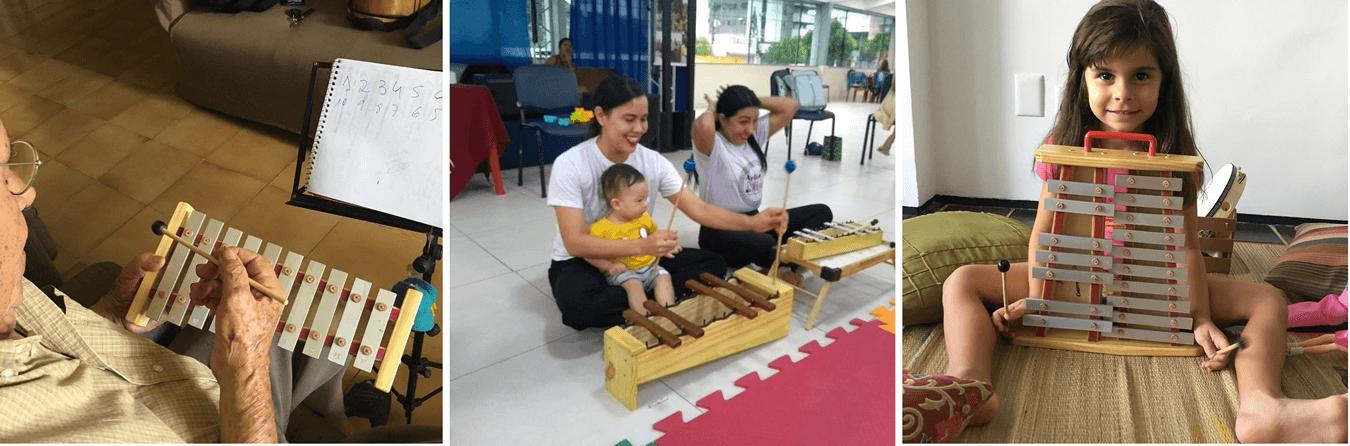 Instrumentos musicais são adotados na iniciação musical em qualquer idade