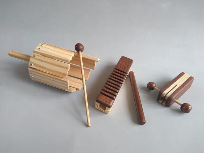 Kit 3 Instrumentos de Percussão